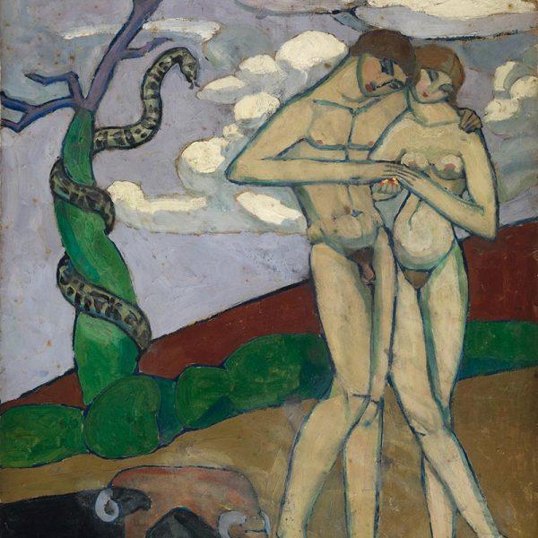 """Жанна Эбютерн """"Адам и Ева"""" 1919г"""