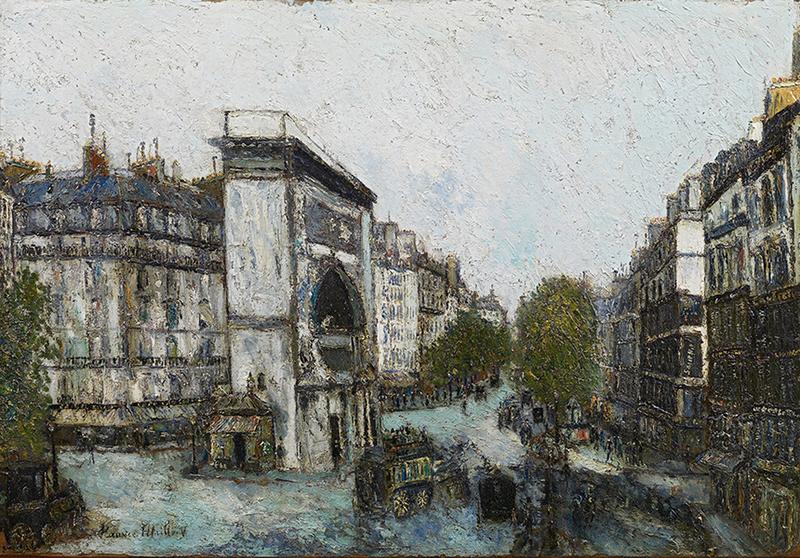 """Морис Утрилло """"Ворота Сен-Мартен"""", 1908г"""