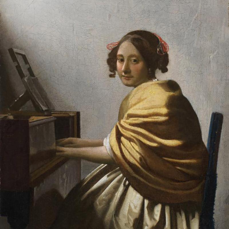 Ян Вермеер Делфтский. Девушка за вёрджинелом. Около 1670–1672.