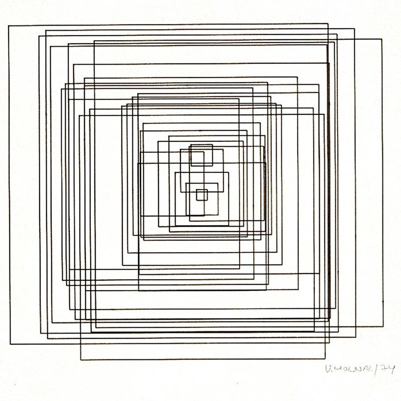 Вера Мольнар. «Гипертрансформация». 1974