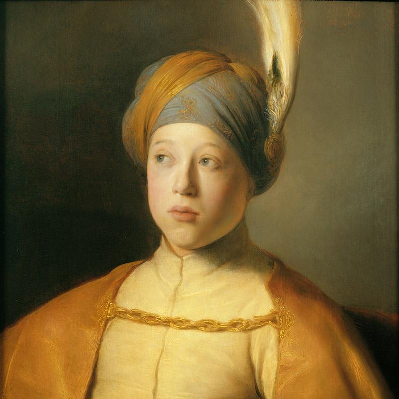 Ян Ливенс. Мальчик в плаще и тюрбане (Портрет принца Руперта Пфальцского) Около 1631
