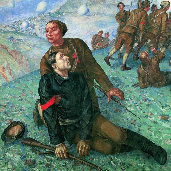 Петров-Водкин К.С. «Смерть комиссара», 1928 г.