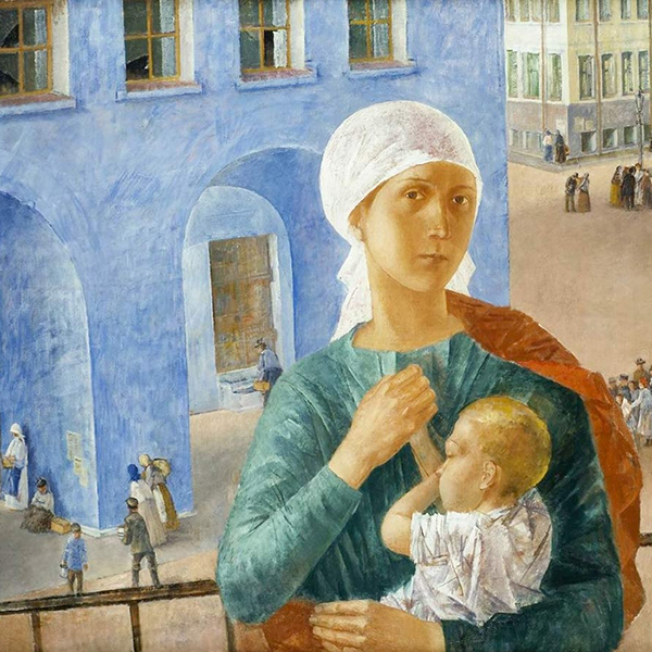 Петров-Водкин К.С. «1918 год в Петрограде», 1920 (Петроградская Мадонна)
